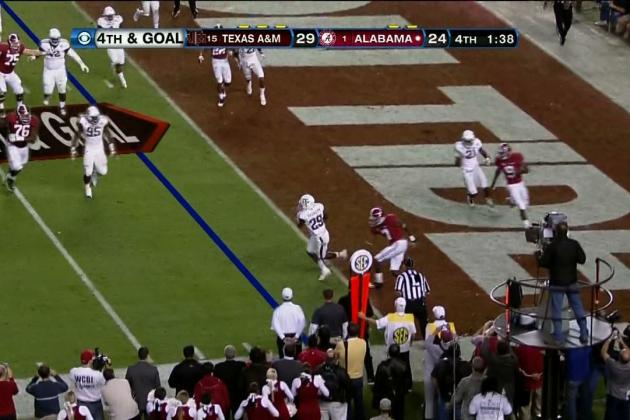 Texas A&M vs. Alabama: A.J. McCarron's Critical Interception