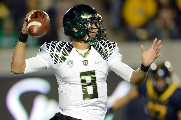 Mariota's 6 TDs Power Perfect Oregon Past Cal