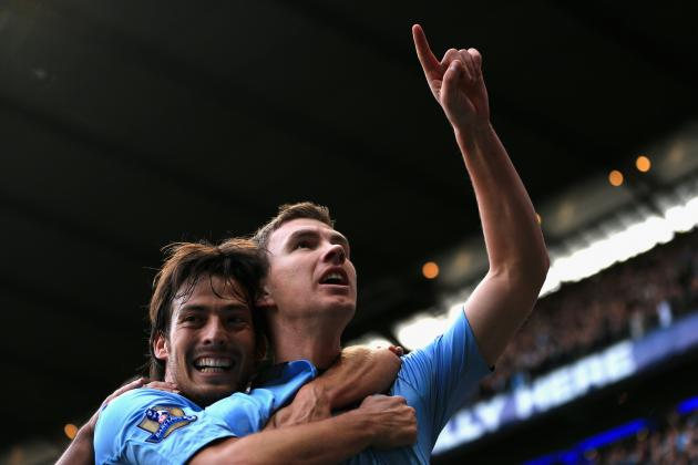 Dzeko's Late Goal Leads to City Win over Spurs