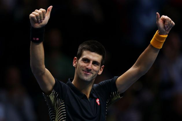 Novak Djokovic Defeats Juan Martin del Potro in 2012 ATP World Tour Finals Semis