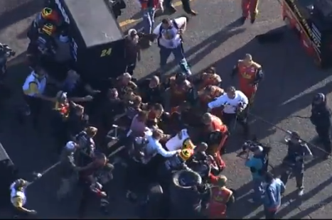 NASCAR Fight! Jeff Gordon and Clint Bowyer's Pit Crews Fought After a Wreck