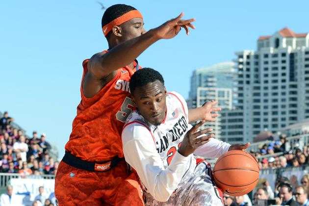 No. 9 Cuse Rolls No. 20 SDSU on USS Midway