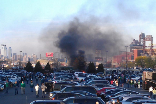 Did Eagles Fans Torch 'Boys Fan's Car?