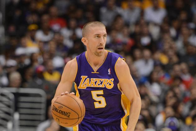 Steve Blake Heads to Locker Room with Abdominal Strain