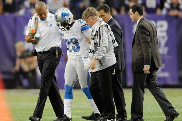 Detroit Lions: Chris Houston, Cliff Avril Injured in Loss to Vikings