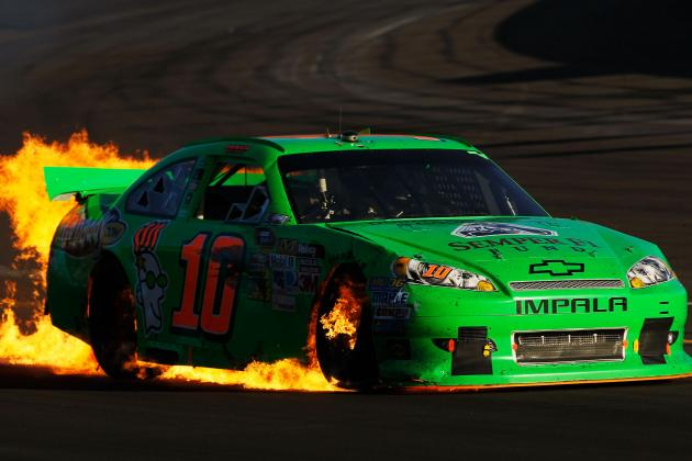 Danica Patrick's Best Cup Run Spoiled by Jeff Burton at Phoenix