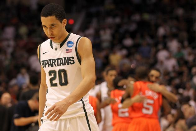 Michigan State's Travis Trice Likely out vs. Kansas