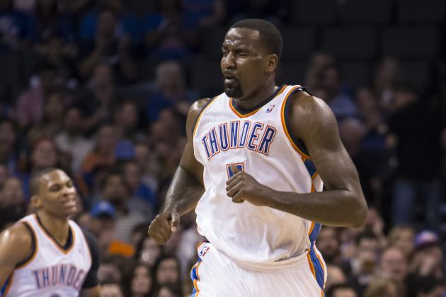 Kendrick Perkins Tries to Get Himself Going by Picking a Fight