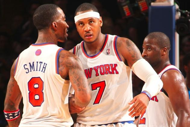 J.R. Smith Gives Carmelo Anthony What Amar'e Stoudemire Never Could