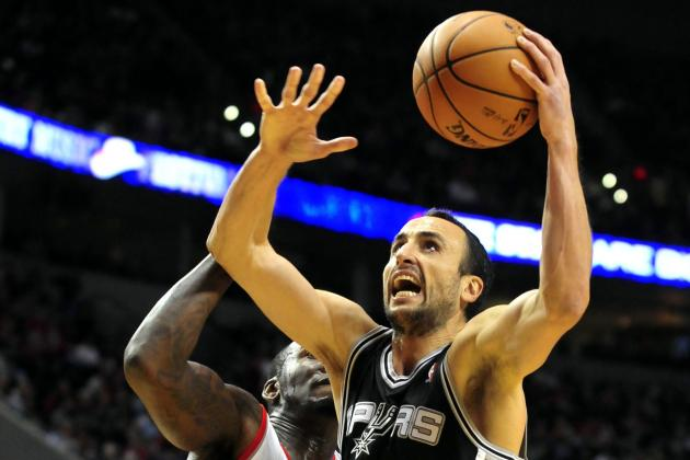 Ginobili's Back Pain Flares Up, Making Him Questionable to Play vs. Lakers
