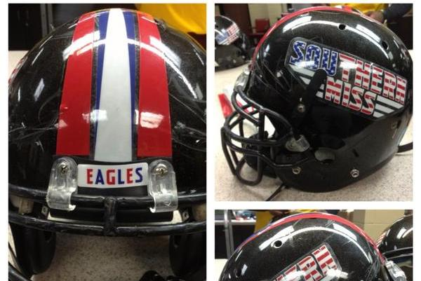 PHOTO: Southern Miss to Wear Stars-and-Stripes Helmet Decals