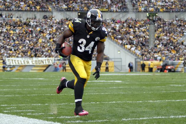 Rashard Mendenhall: Steelers RB Is Risky Fantasy Play vs. Ravens Even If Healthy