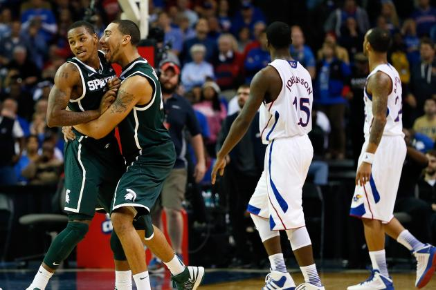 No. 21 Michigan St. 67, No. 7 Kansas 64