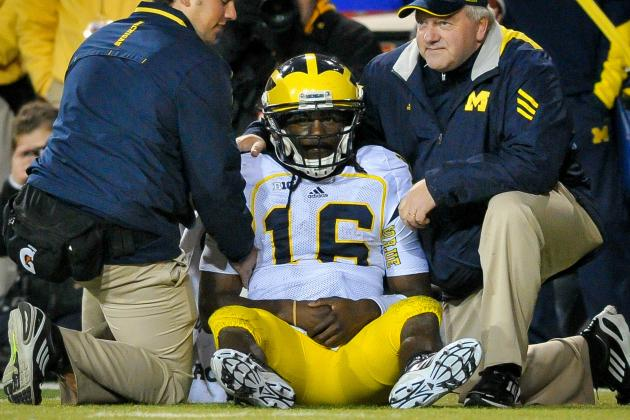 Michigan Football: How Denard Robinson's Injury Affects Rose Bowl Chances