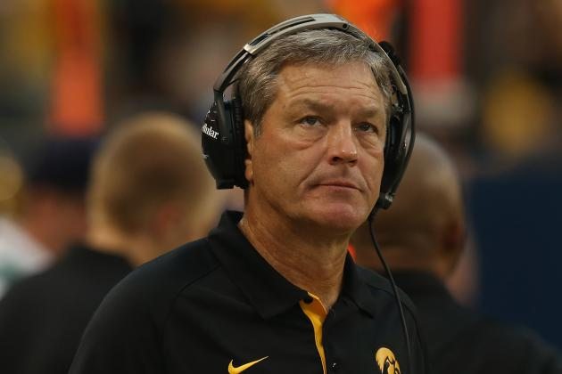 Iowa's Ferentz Keeps Focus Squarely on Michigan