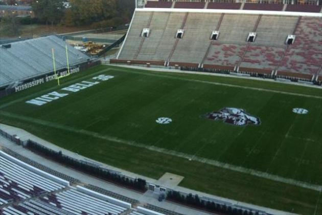 Mississippi State Paints Tribute to Nick Bell in End Zone