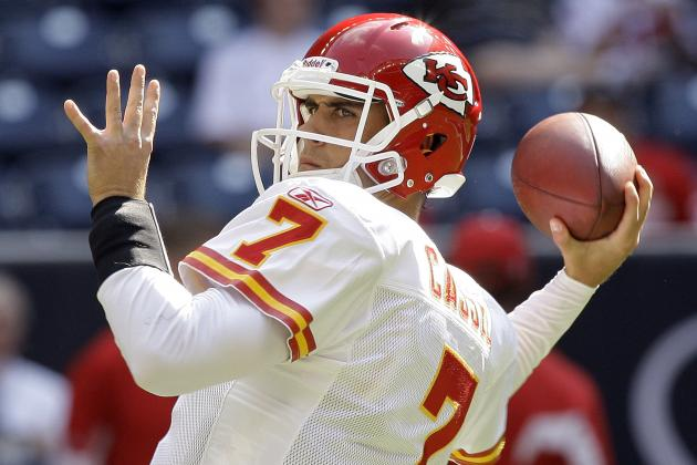 Chiefs' Quinn Still Not Cleared Following Concussion; Cassel to Start