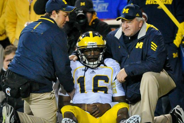 Denard Robinson's Status for Final Home Game Remains in Doubt
