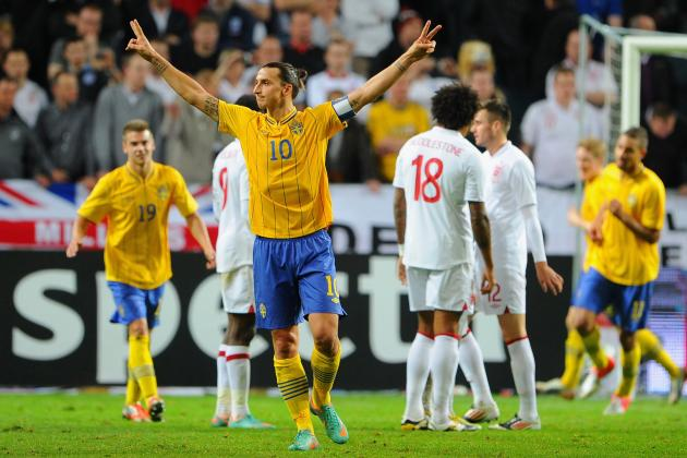 Zlatan Ibrahimovic Scores 4 Goals vs. England in Epic Showing