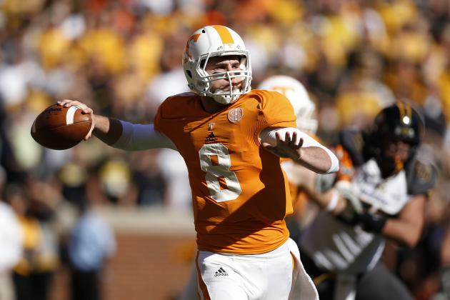 Tyler Bray Might Be Playing Best Football of His Tennessee Vols Career