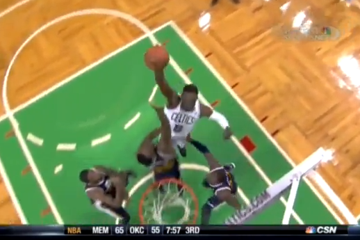 Jeff Green Posterizes Al Jefferson