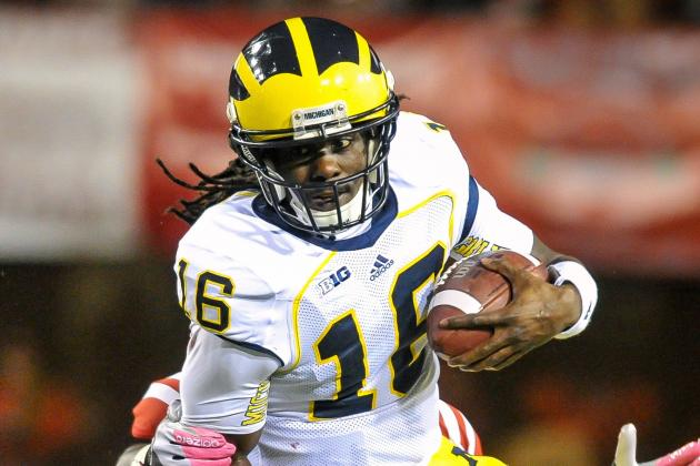 Brady Hoke May Play Denard Robinson for a Play on Senior Day