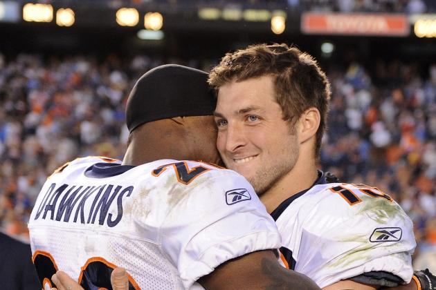 Tim Tebow Gets Twitter Defense from Former Broncos Teammate Brian Dawkins