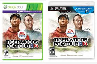 Arnold Palmer on the Cover of Tiger Woods PGA Tour 14