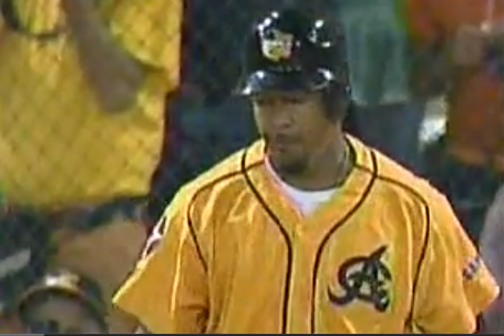 Manny Homers on First Winter League Pitch