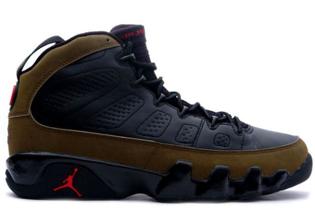 Breaking Down New Air Jordan IX 'Olive' Shoes