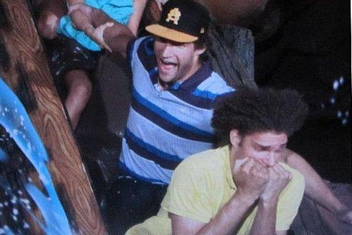 Robin Lopez Terrified at Splash Mountain