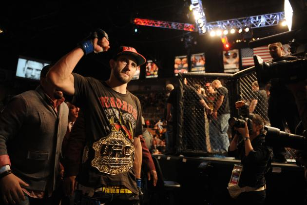 Carlos Condit Expects GSP to Be in the Fight 'Until the Ref Pulls Me off Him'