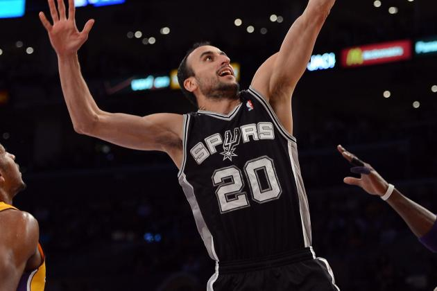 Ginobili Still Limited off the Bench
