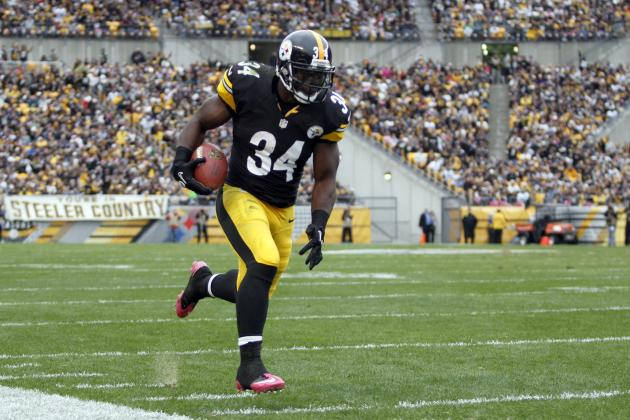 Rashard Mendenhall: Projecting Steelers RB's Fantasy Numbers in Return to Lineup