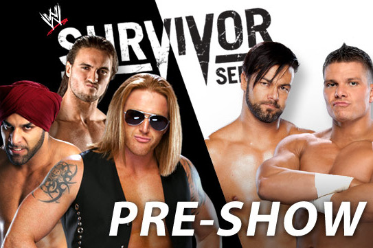 Survivor Series 2012: 3MB vs Tyson Kidd and Justin Gabriel YouTube Pre-Show