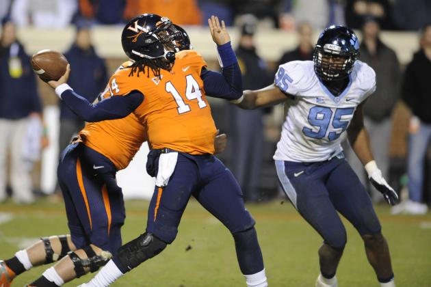 Virginia Football Falls to North Carolina, Ending Cavaliers' 2012 Bowl Hopes