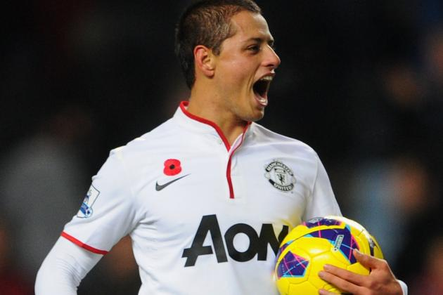 Chicharito Starts; Rooney out with Injury