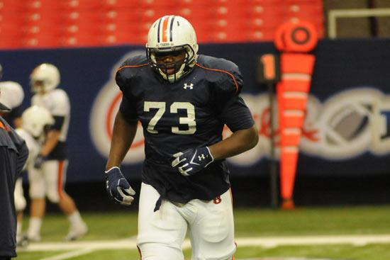 Auburn LT Greg Robinson out of the Starting Lineup Against Alabama A&M