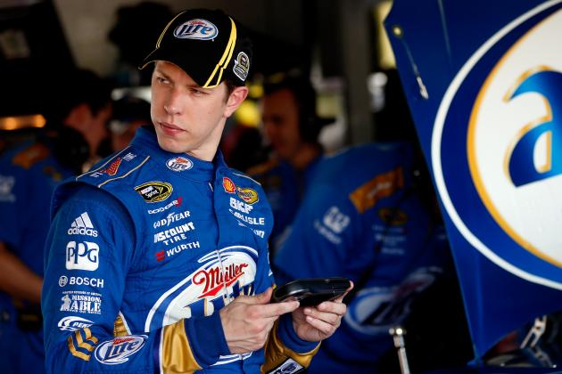 Keselowski Moves to Front After Logano Wrecks
