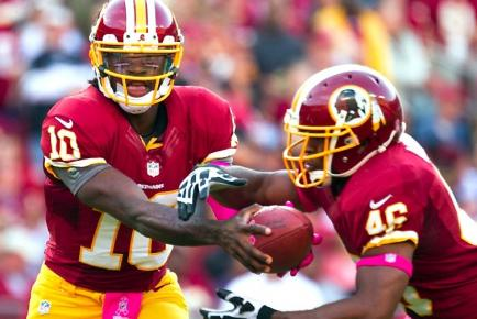 Griffin Tosses Four Touchdowns, Redskins Extend Eagles Skid to Six Games