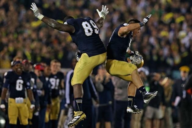 BCS Standings 2012: Notre Dame Sits Atop Projected Top 25 Week 13 Rankings