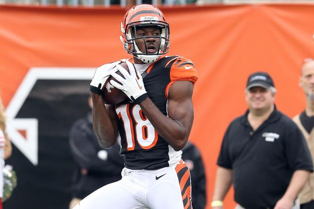 A.J. Green Closing in on Jerry Rice TD Streak