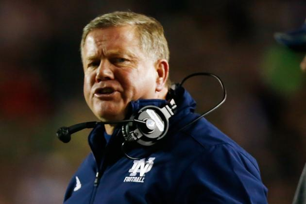 Brian Kelly Reacts to Irish Getting No. 1 Ranking