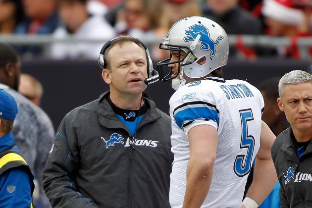 Lions' Coaches Scott Linehan, Shawn Jefferson Have Heated Exchange Late in Loss