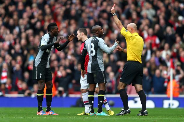 Arsenal 5-2 Tottenham: Anatomy of Emmanuel Adebayor's Red Card