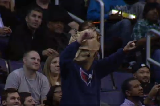 Wizards Fans Boo Team, Cheer Free Chicken Sandwiches