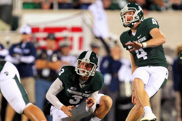 Michigan State's Dan Conroy Takes the Good with the Bad on Field Goals