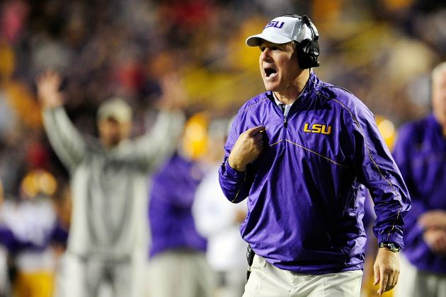 LSU's Les Miles Stands by His Senior Class