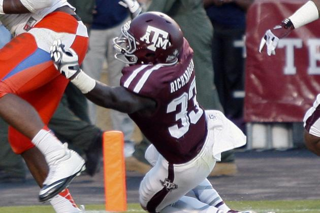 A&M's Richardson Recovering from Spine Injury