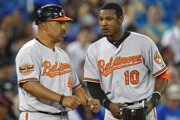Orioles Third-Base Coach DeMarlo Hale Interviews with Blue Jays